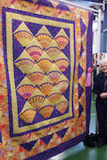 Sally Ruggles with her quilt