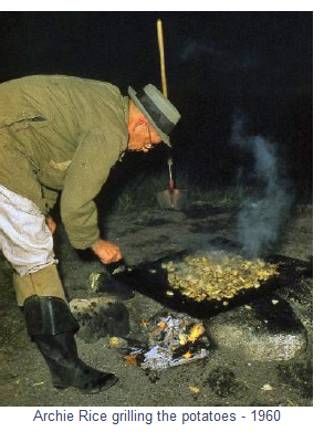 Archie Rice grilling the potatoes